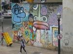 Graffiti vistto desde el puente