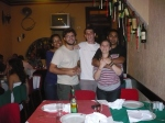 Felices en el reaturant italiano Piolin